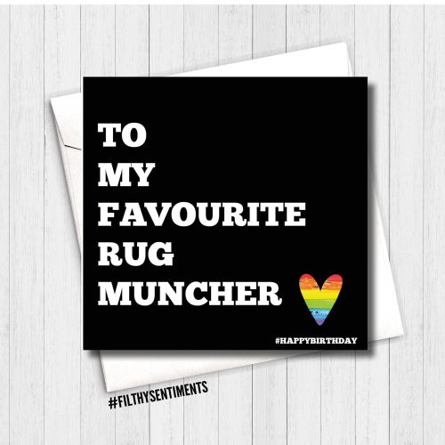 Favourite Rug Muncher birthday card - FS108 - H0028