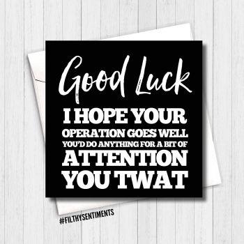Good Luck you twat card GLYT303 G0072