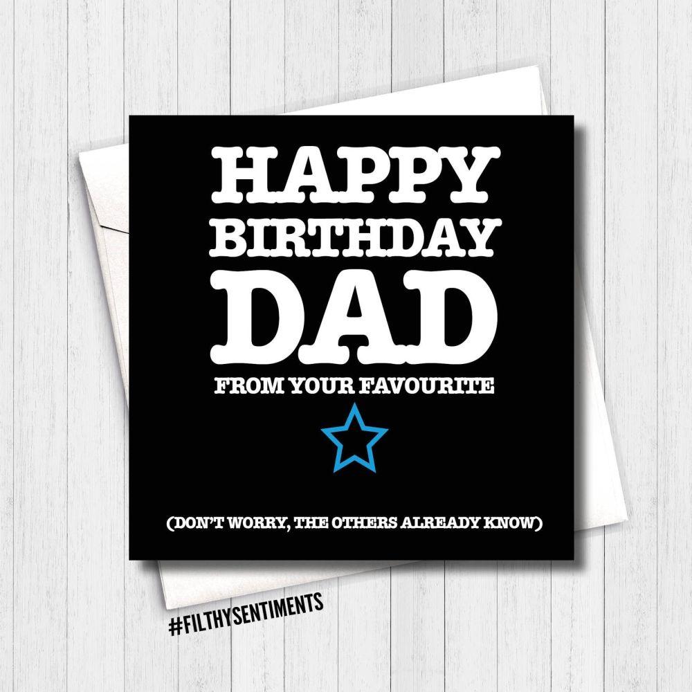 Happy Birthday Dad, they all know card -  FS169 - G0032
