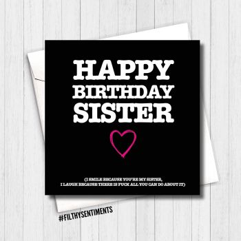 Happy Birthday sister, I smile card -  FS161 - G0039