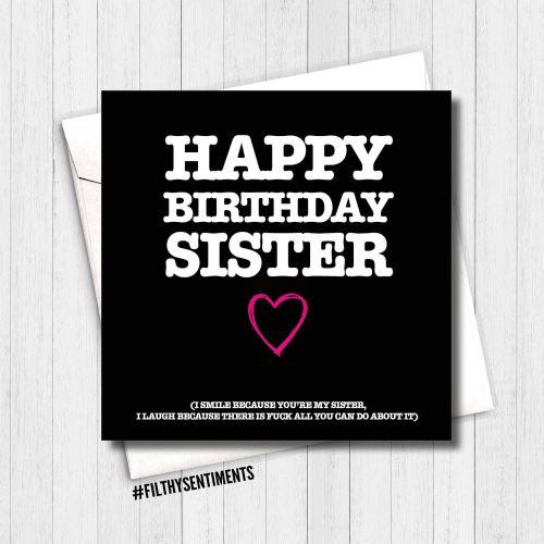 Happy Birthday sister, I smile card -  FS161 - G0039