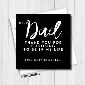 Step Dad thank you card SDTY222  - G0044