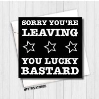 Sorry you're leaving card FS176 - G0066
