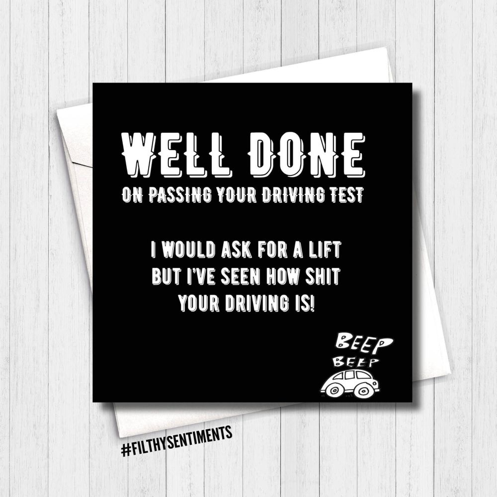WELL DONE DRIVING TEST - FS119 - H0039