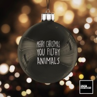 Black Christmas Bauble Decoration - Filthy Animal