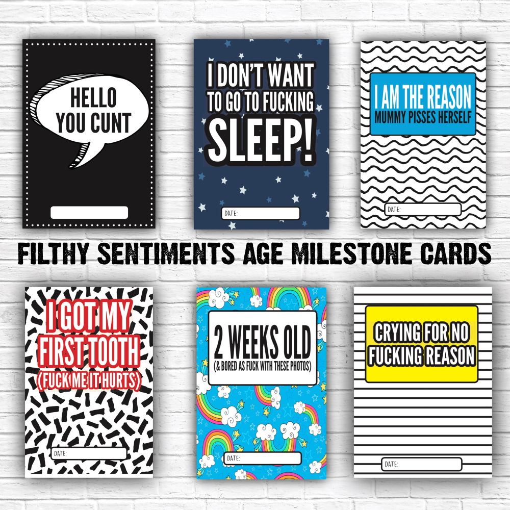 Baby Age Milestone Cards