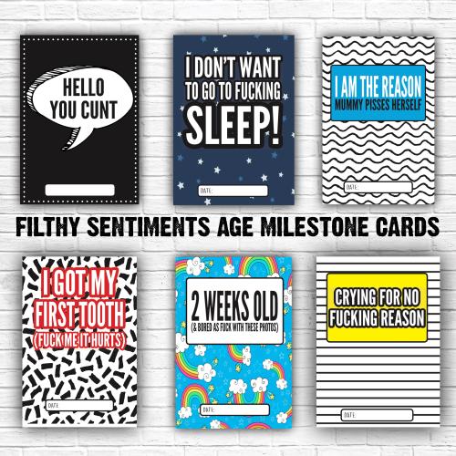 Baby Age Milestone Cards