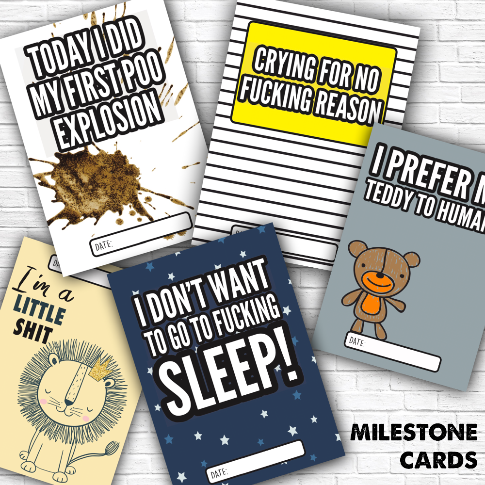 FUNNY BABY MILESTONE CARDS