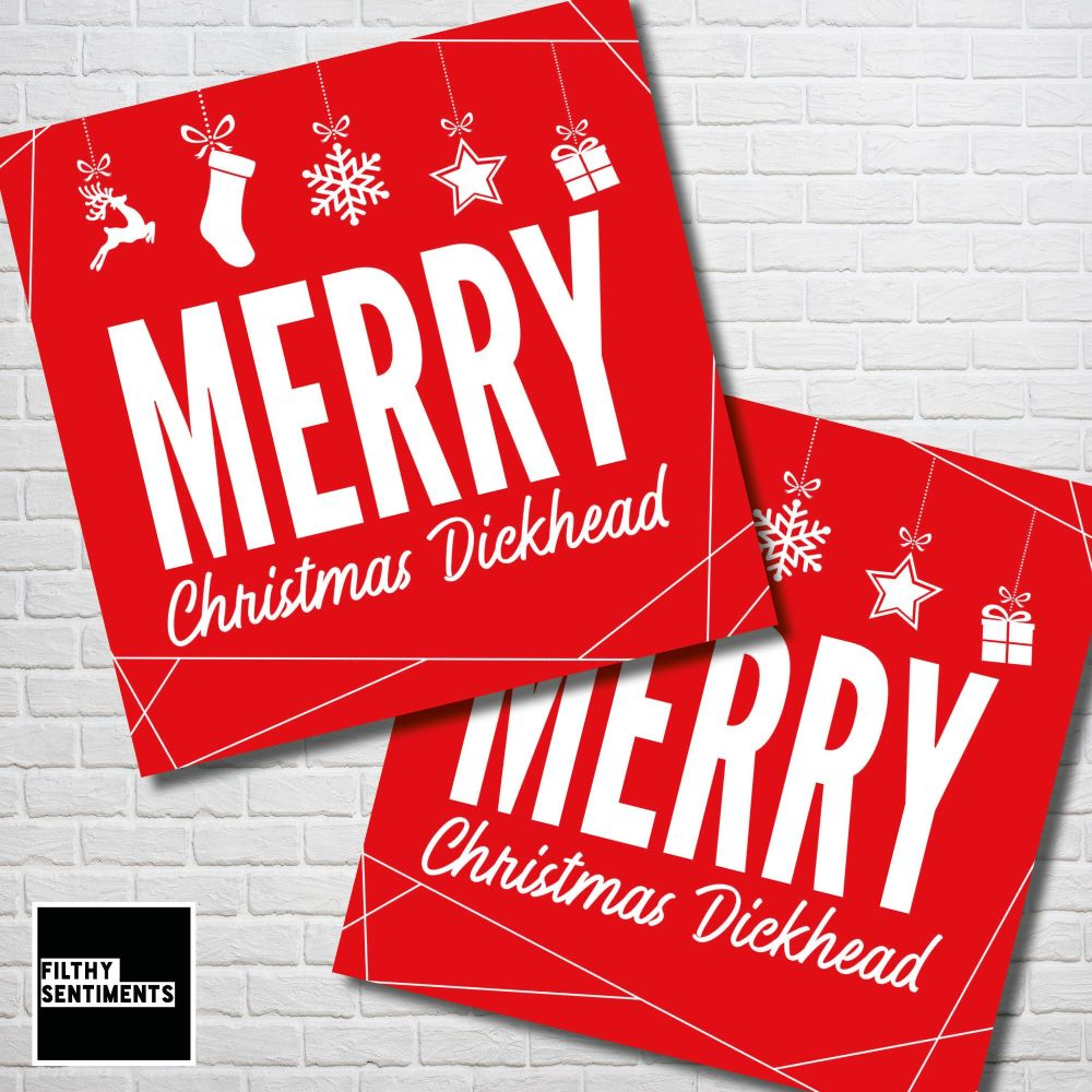 MERRY CHRISTMAS DICKHEAD RED CHRISTMAS CARD PACK - FS350