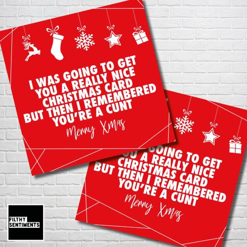 CHRISTMAS I REMEMBERED RED CHRISTMAS CARD PACK - FS355