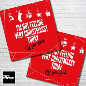 FEELING CHRISTMASSY RED CHRISTMAS CARD PACK - FS356