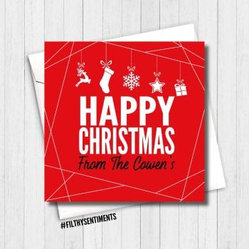 PERSONALISED HAPPY CHRISTMAS CARD - FS373