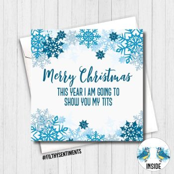 Merry Christmas Show my tits Card - FS377
