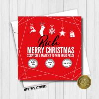 PERSONALISED CHRISTMAS BLOWJOB SCRATCH CARD - FS378