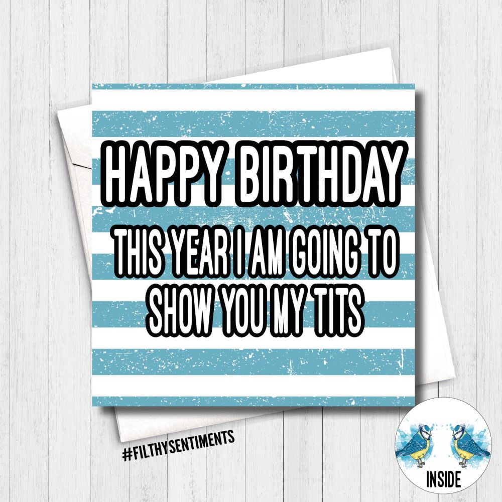 Birthday Show my tits Card - FS379