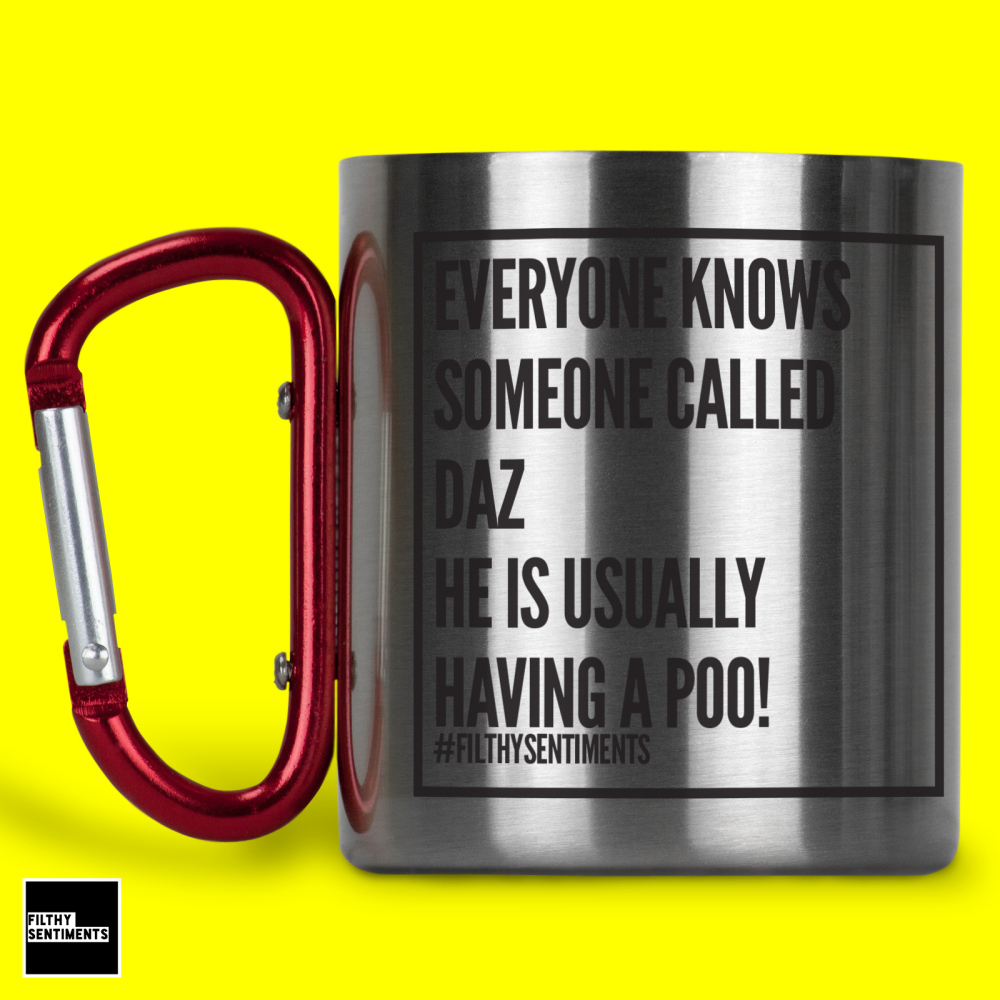 EVERYONE KNOWS PERSONALISED STEEL MUG - 115