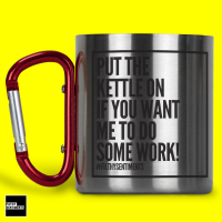 BESPOKE ADD ANY WORDING STEEL MUG