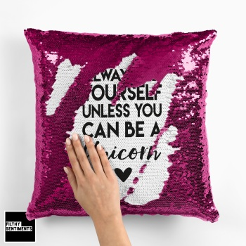 UNICORN MERMAID SEQUIN CUSHION
