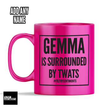 Surrounded by Twats Personalised Mug - 188