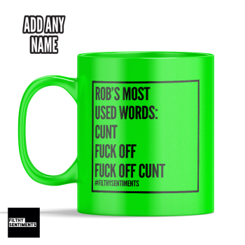 FAVOURITE WORDS PERSONALISED MUG - 219