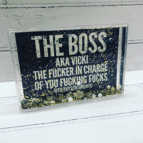 Standard Fucker in Charge Glitter Frame