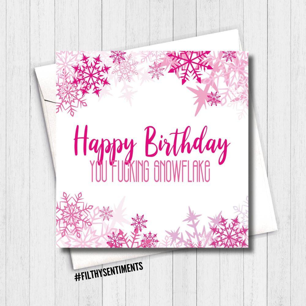Happy Birthday Snowflake Card - FS389