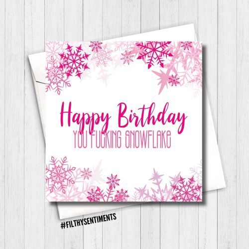 Happy Birthday Snowflake Card - FS389
