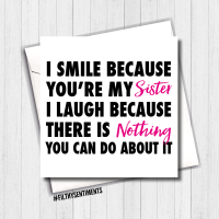 I Smile Sister Card - FS391