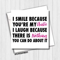 I Smile Auntie Card - FS392
