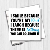 I Smile Dad Card - FS394
