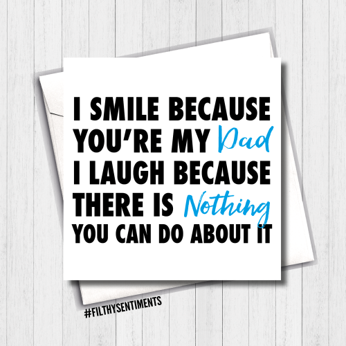I Smile Dad Card - FS394