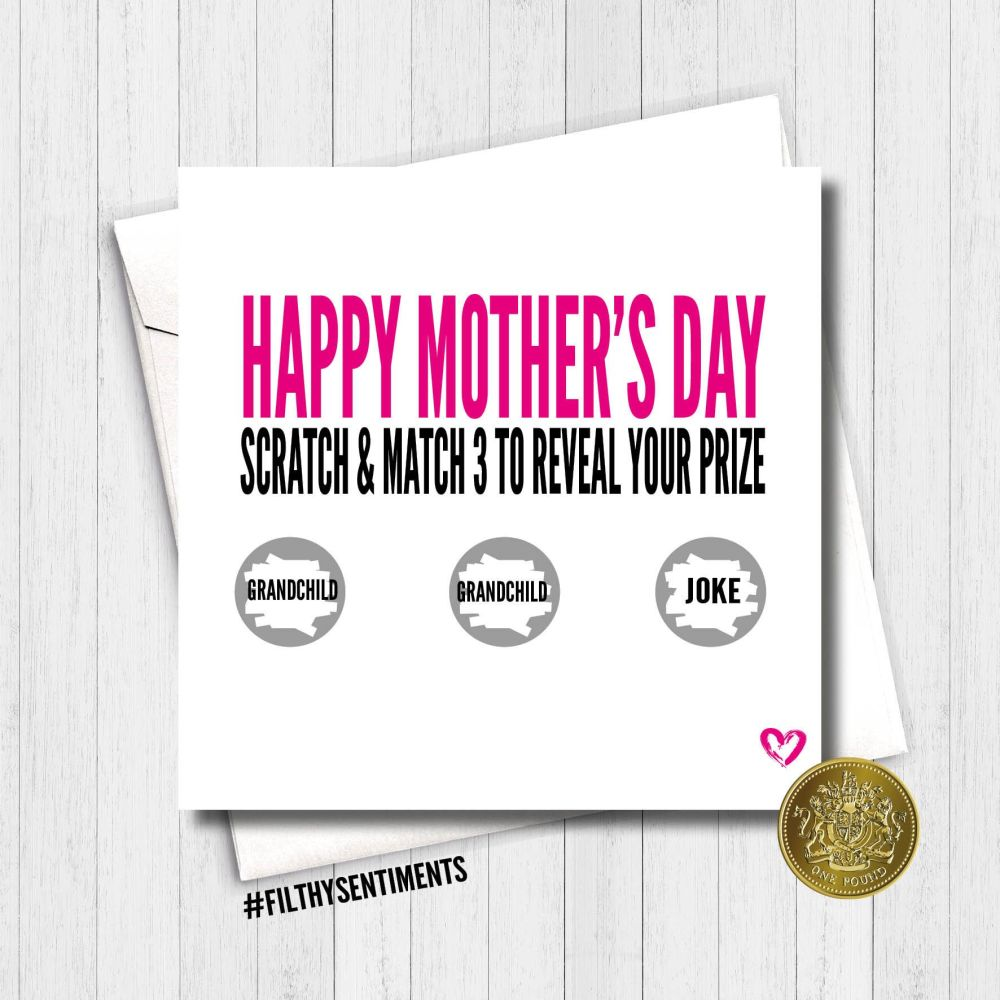 PINK MOTHER'S DAY SCRATCH CARD  - FS436