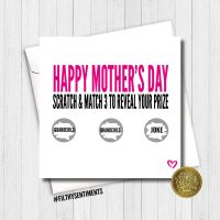 PINK MOTHER'S DAY SCRATCH CARD  - FS436/ H0005