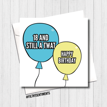 18 Balloon Card - FS414 /R0051