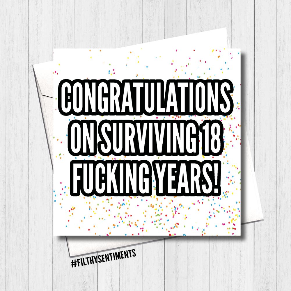 Survived 18 Card - FS416