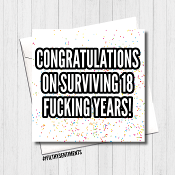Survived 18 Card - FS416 /R0022