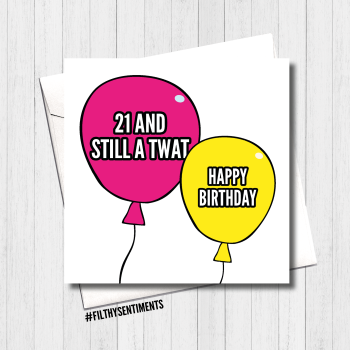 21 Balloon Card - FS415/ H0015