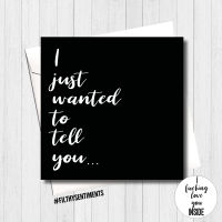 I Wanted to tell you Surprise Card - FS421/ H0036