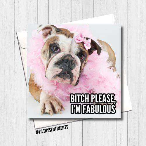 Bitch Please Dog Card - FS425