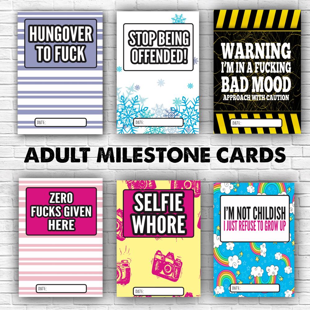 Adult Milestone Cards