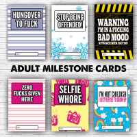 Adult Milestone Cards By Luisa