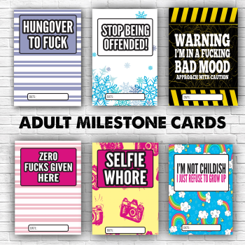 Luisa Adult Milestone Cards By Luisa