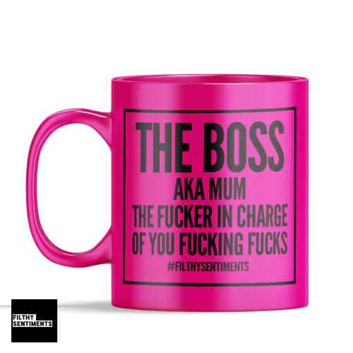 *NEW* BOSS IN CHARGE MUG 136