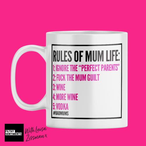 RULES OF MUM LIFE MUG BY LUISA