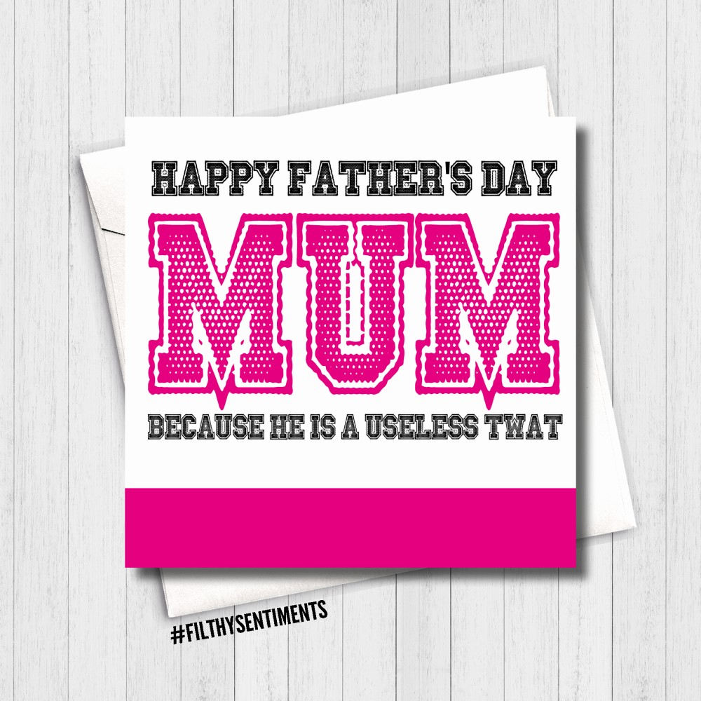 Useless Father's Day Card - FS462