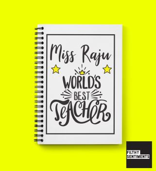 BEST TEACHER PERSONALISED NOTEBOOK - N013