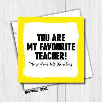 Favourite Teacher card FS468