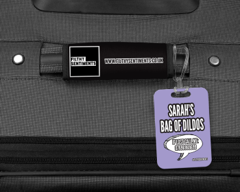 BAG OF DILDOS PERSONALISED LUGGAGE TAG - 004