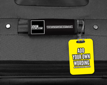 ADD YOUR OWN WORDING LUGGAGE TAG - 003