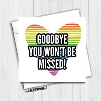 GOODBYE NOT MISSED CARD - FS473/ B0066